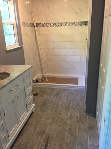 Bedminster NJ Tile and Bathroom Makeover